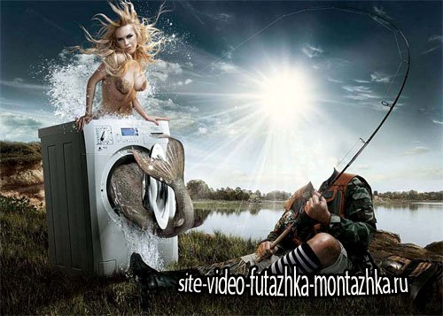 Шаблон мужской - Креативный улов на рыбалке
