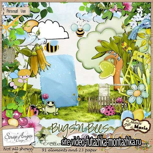 Яркий летний скрап-комплект - Bugs'n Bees