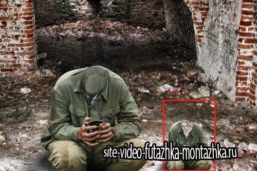 Костюм мужской - Солдат с кружкой чая
