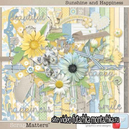 Нежный цветочный скрап-комплект - Солнышко и счастье