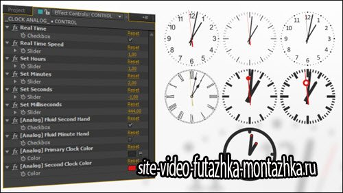 After Effect Project - Analog Watch Clock System
