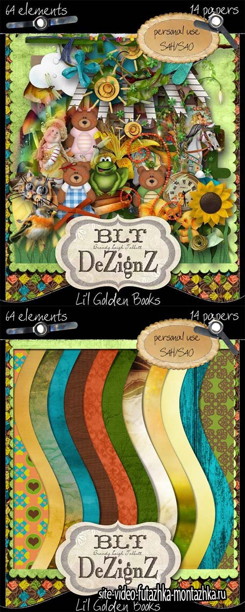 Scrap - Lil Golden Books PNG and JPG Files
