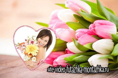 Рамка для фотошопа - Букет цветов