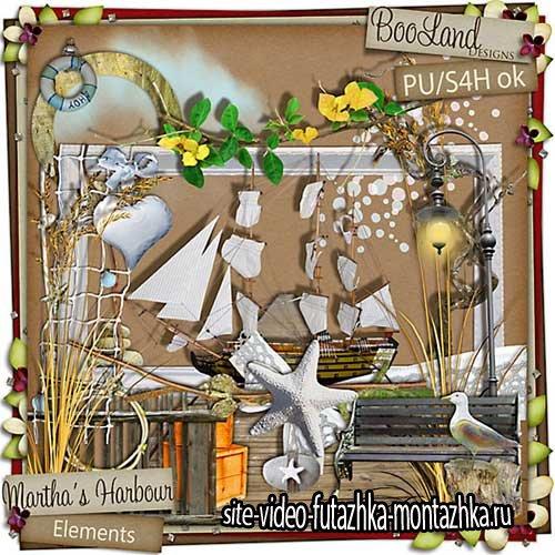 Скрап-набор с морской романтикой - Martha's Harbour
