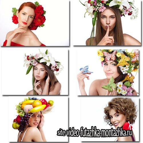 Фоны для фотографий - Двенадцать весенних девушек с цветами