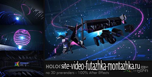 After Effect Project - Holographic 3D Logo Reveal