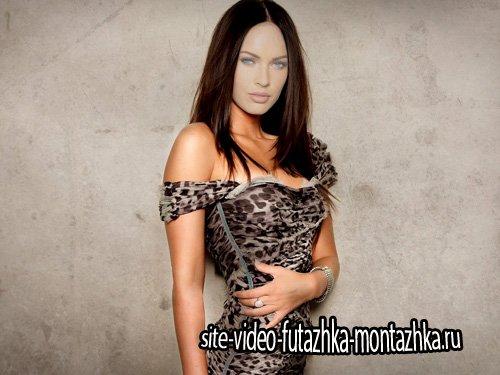 Шаблон для Photoshop - Модель в леопардовом платье