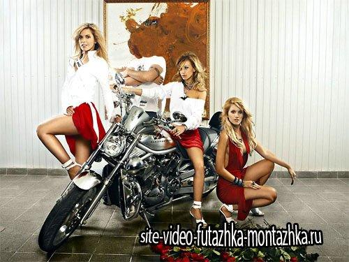 Шаблон для фотомонтажа - С тремя красивыми блондинками с группы Рефлекс