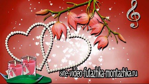 футаж-Свадебная видео заставка