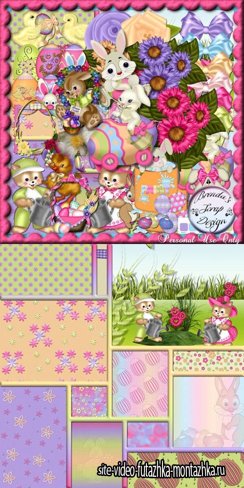 Easter Kit JPG and PNG Files