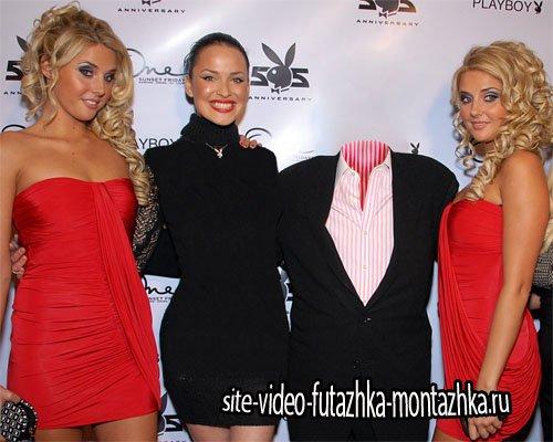 Шаблон для фотошопа - Дамский угодник с красивыми девушками