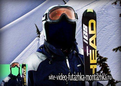Шаблон psd adobe photoshop - Профессиональный сноубордист