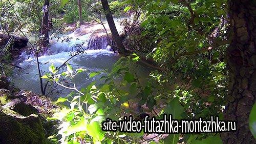 Футаж-Небольшие водопады