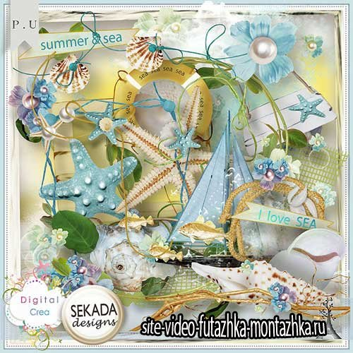 Морской скрап-комплект - Лето и море