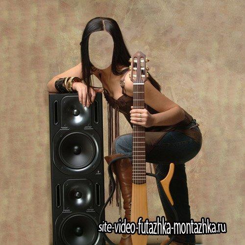 Шаблон для девушек - Музыкантша