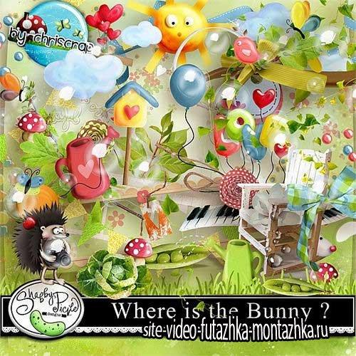 Чудесный детский скрап-комплект - Где Банни?
