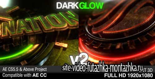Dark Glow Logo Reveal v2 - Project for After Effects (Videohive)