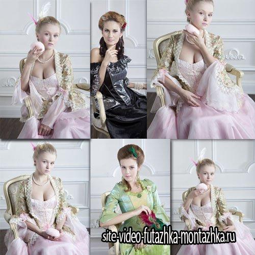 Клипарты для фотошопа - Дамы в красивых нарядах