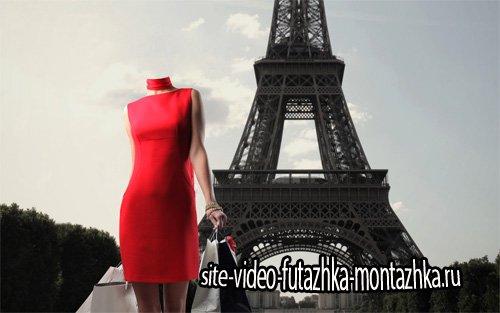 Шаблон psd женский - Уикенд в Париже