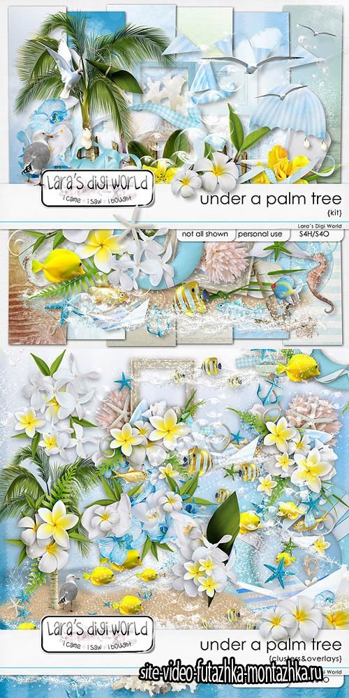Scrap - Under a Palm Tree PNG and JPG