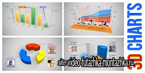 3D Charts - Project for After Effects (Videohive)