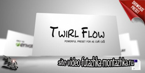 After Effect Project - Twirl Flow Preset