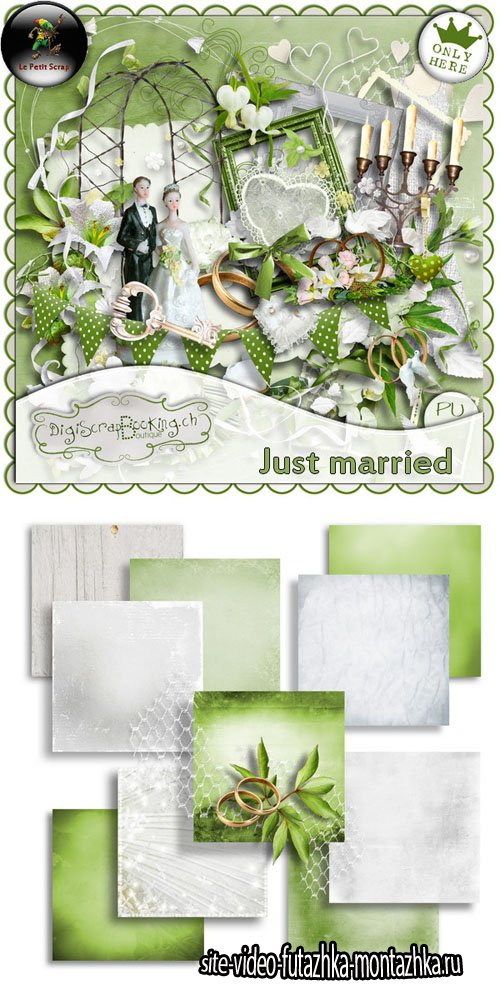 Scrap - Just Married PNG and JPG