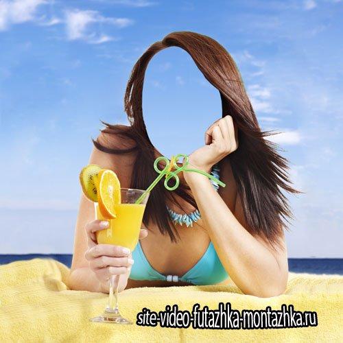 Отдых на пляже - шаблон для девушек