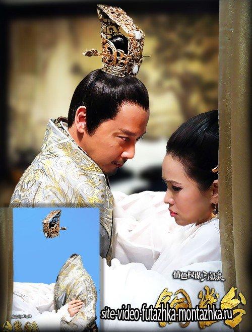 Многослойный двойной фотошаблон photoshop - Японская пара