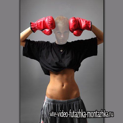 Шаблон для фото - Красивая боксерша