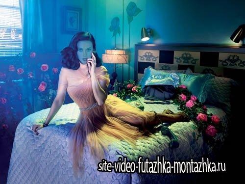Шаблон для девушек - Фотосет в красивой комнате