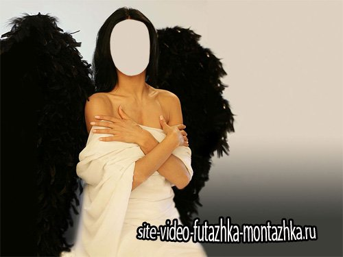 Шаблон для девушек - Девушка ангел с крыльями