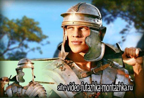 Многослойный костюм для фотошопа - Воин Трои с мечом