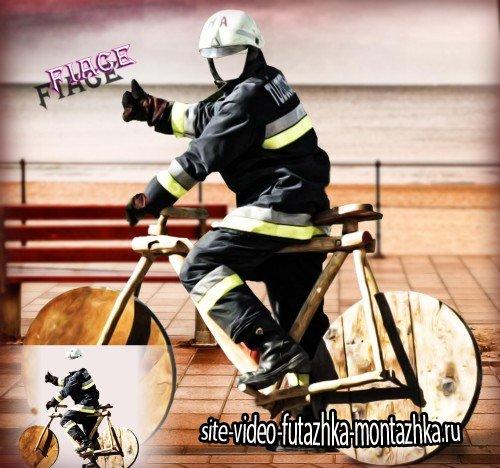 Многослойный шаблон для photoshop - Велопробег на деревянном велосипеде