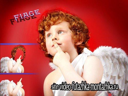 Многослойный шаблон для мальчика - Маленький ангелочек