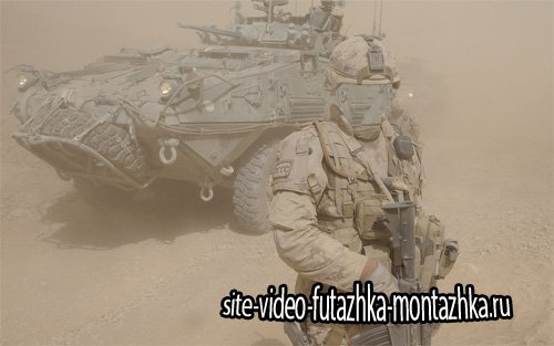 Шаблон psd мужской - Армия в песчаной бури