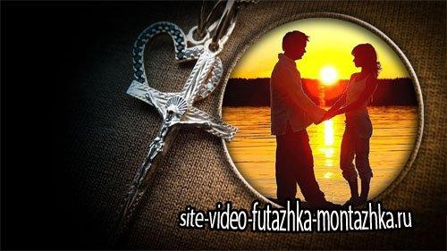 Рамка для фото - Крестик с сердцем