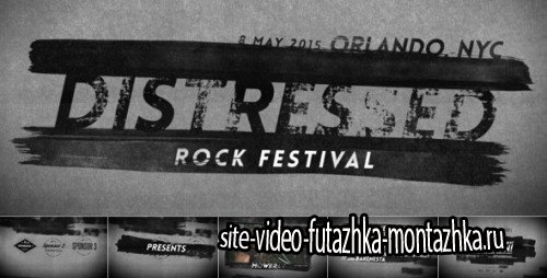 Distressed Rock Festival - After Effects Project