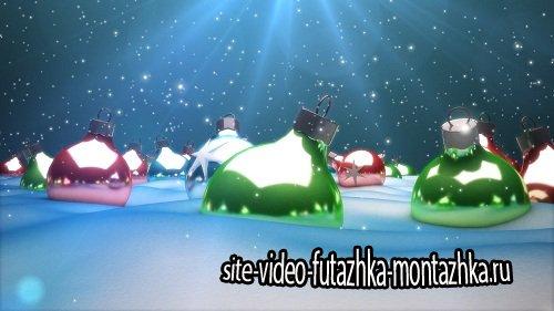 Футаж - Рождественские шары