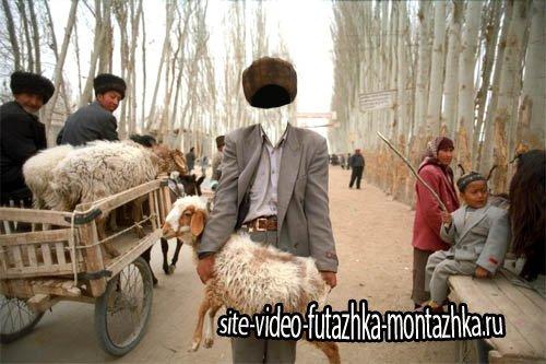 Шаблон для Photoshop - Продавец овец