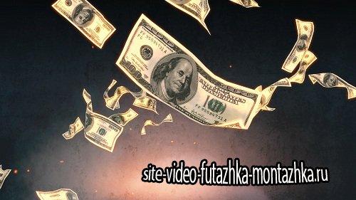 Футаж - Горящие деньги