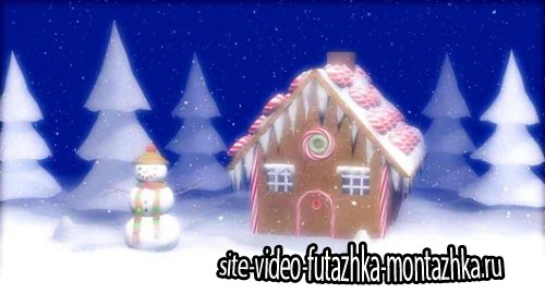 Новогодний детский футаж - Снеговик