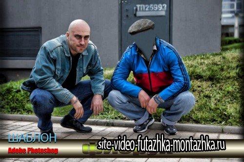 Прикольный мужской шаблон для фотошоп - Физрук