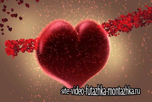 Праздничный футаж - Серпантин сердец