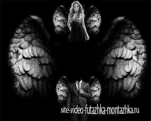 PSD шаблон - Небесные крылья