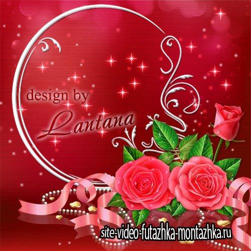Psd исходник - Прекрасные розы – признанье в любви