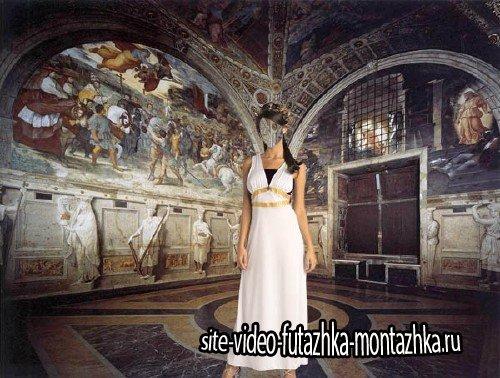 PSD шаблон для девушек - В римском наряде