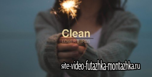 Clean Lower Thirds - Project for After Effects (Videohive)