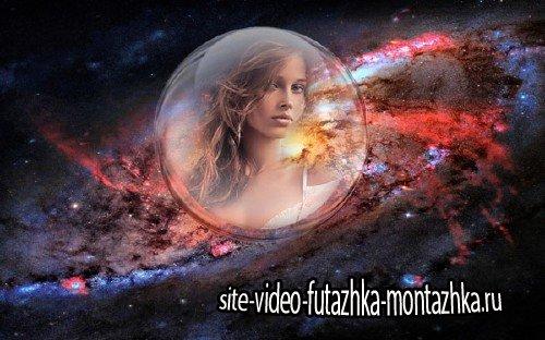 Рамка для фотошоп - В стеклянном шаре среди звезд