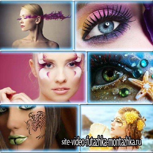 Клипарты для фотошопа - Креативный макияж без границ